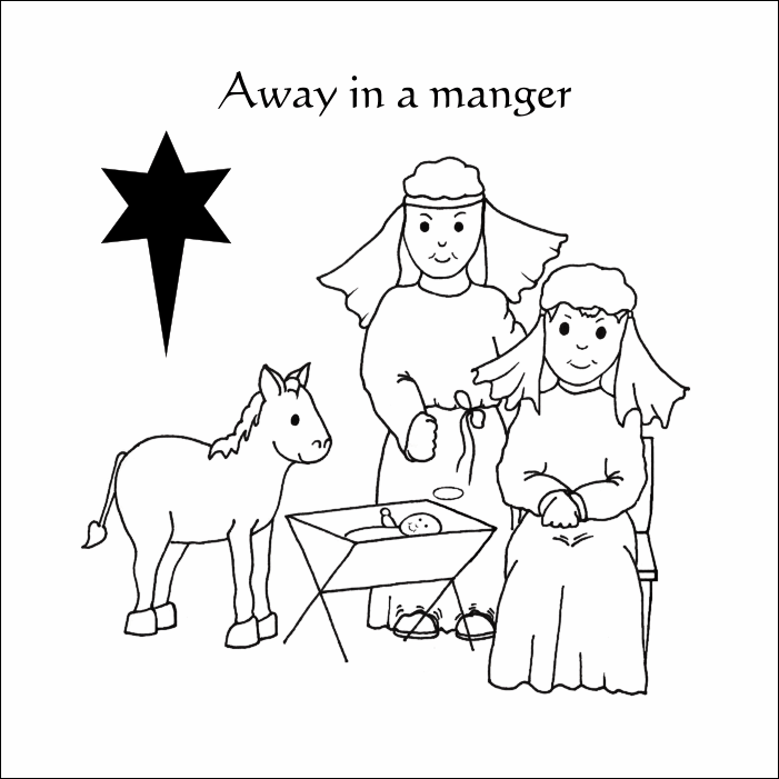 away in a manger coloring pages away in a manger stamp coloring home