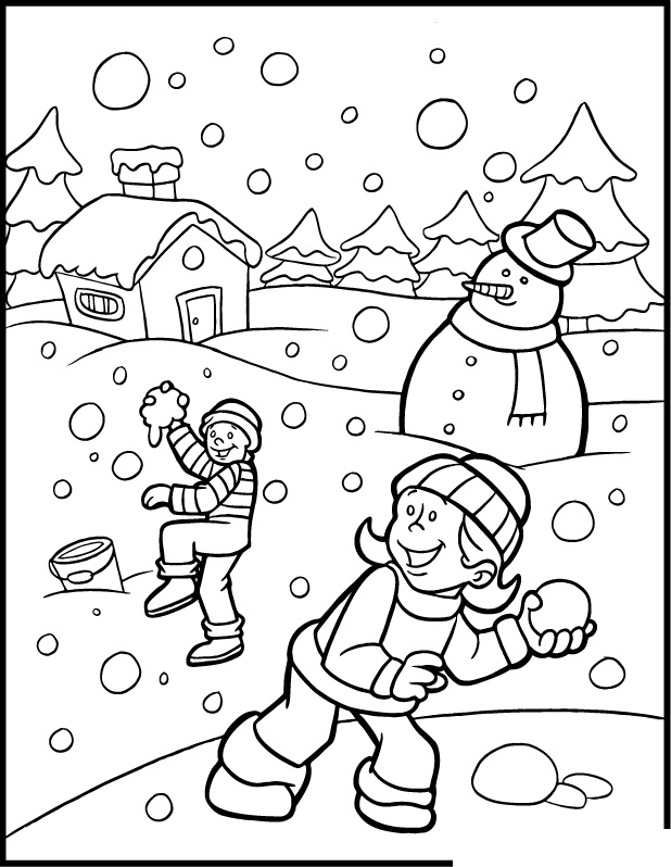 Snow color pages az coloring pages for Snowy coloring pages