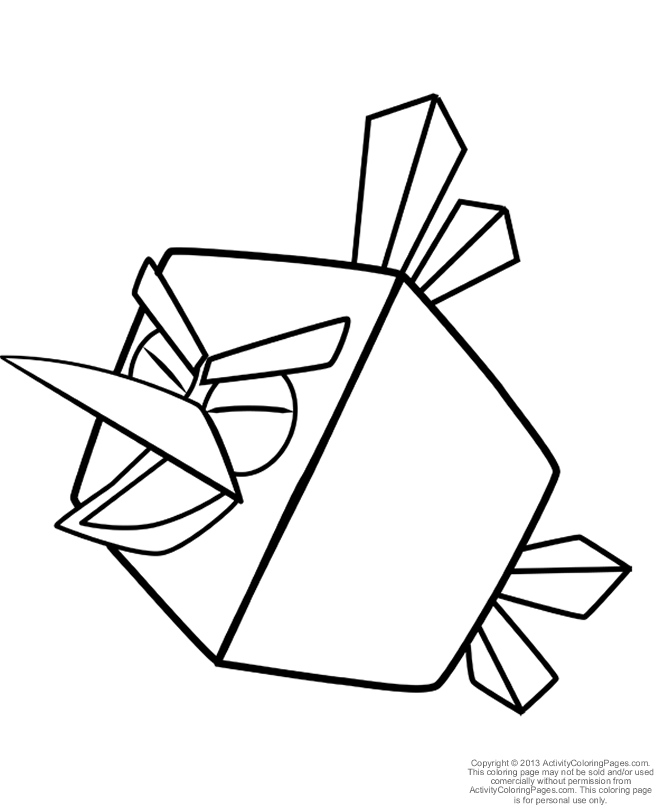 79 Coloring Page Angry Birds Space