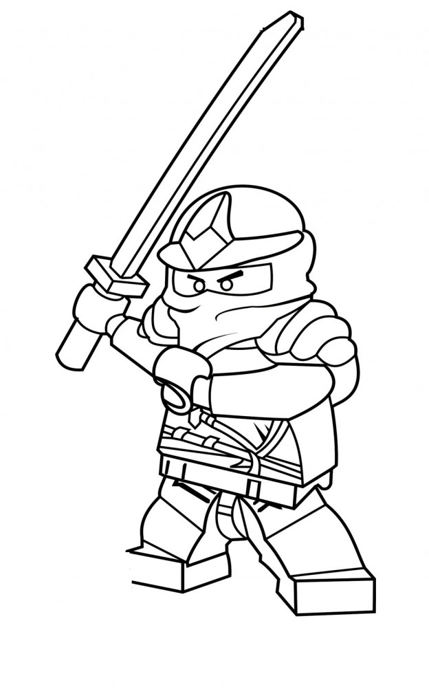 Lego Ninja Coloring Pages #1