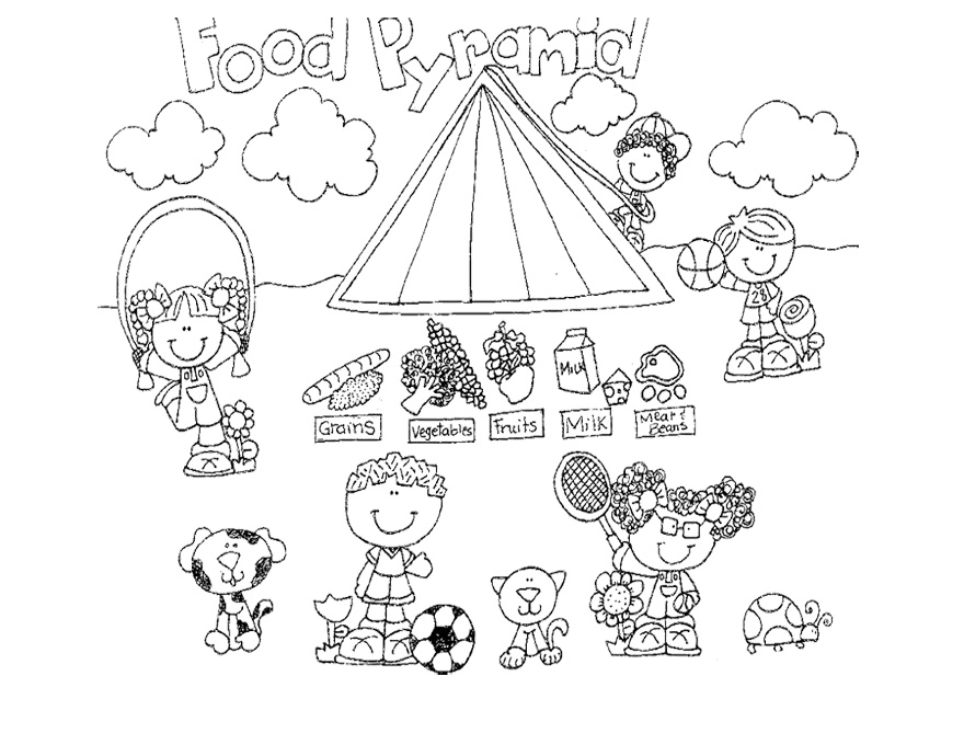 free food pyramid coloring pages - photo#18