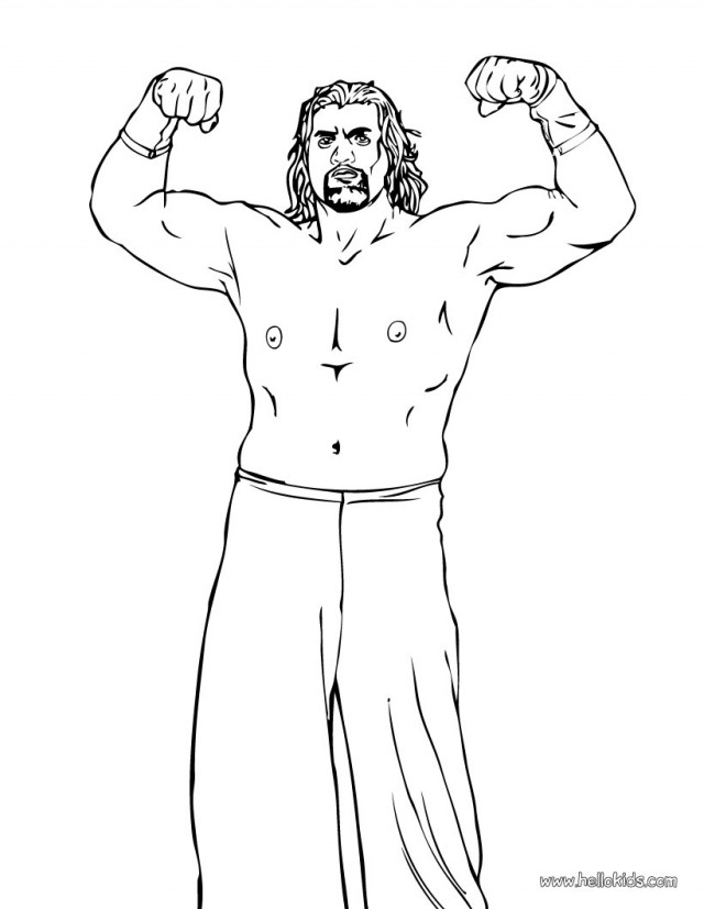 WRESTLING Coloring Pages The Great Khali 209691 Wwe Coloring Pages ...