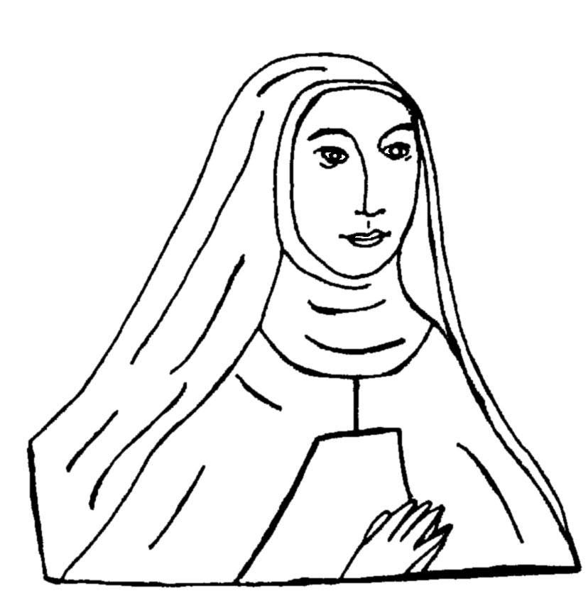 coloring pages catholic saints - photo#28