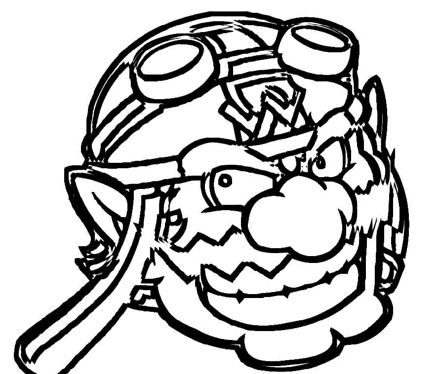 wario coloring pages - photo#25