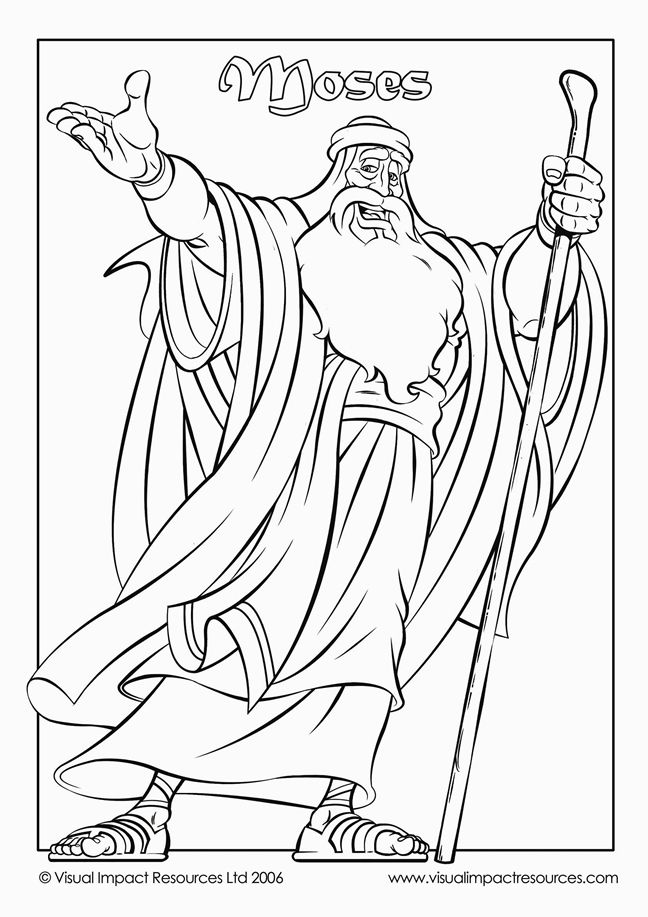 Bible Colouring Pages For Kids Moses