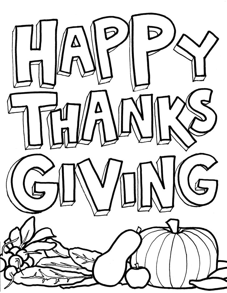 Happy Thanksgiving Coloring Pages Printables