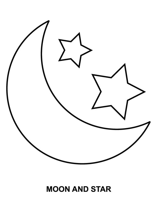 Coloring page sun az coloring pages for Moon and stars coloring pages