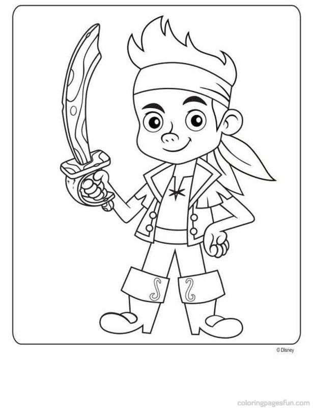Free Printable Jake And The Neverland Pirates Coloring Jake And The Neverland Color Pages