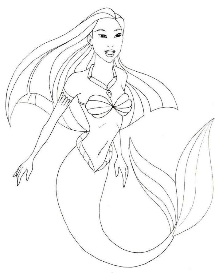Photos Pocahontas The Mermaid Coloring Pages - Pocahontas