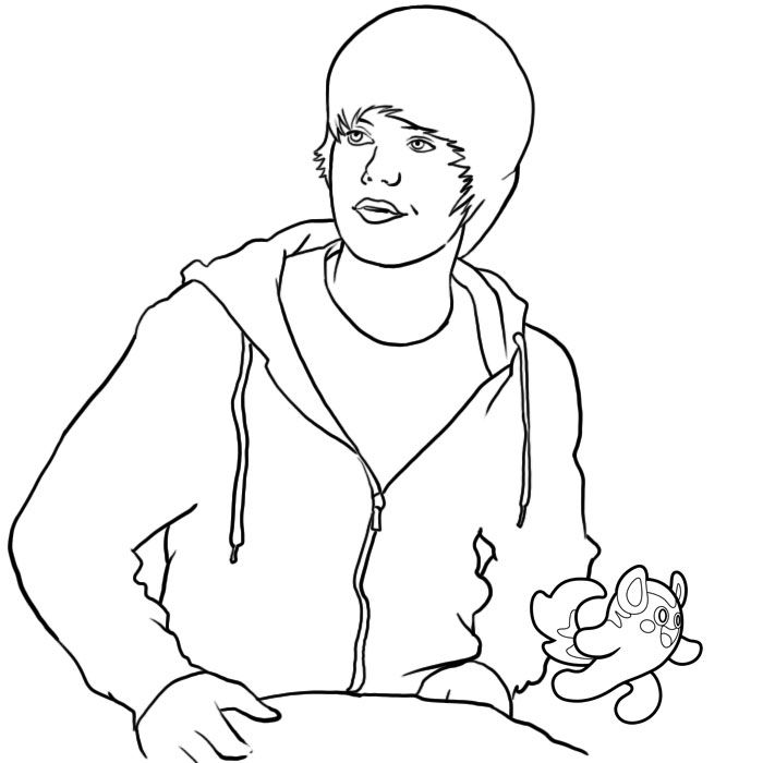 coloring pages justin bieber print - photo#22