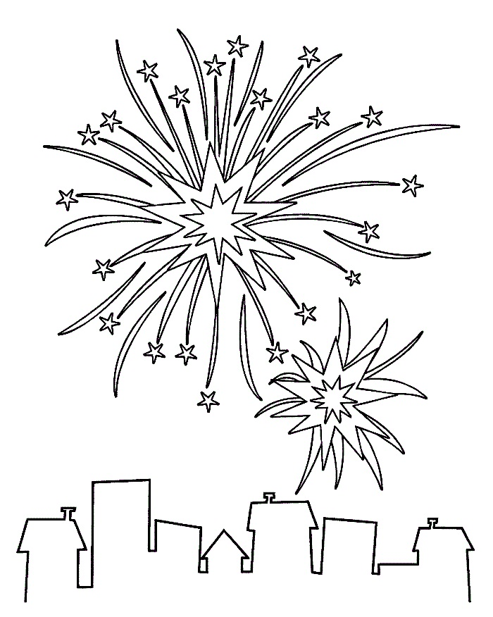 fire work coloring pages - photo#10