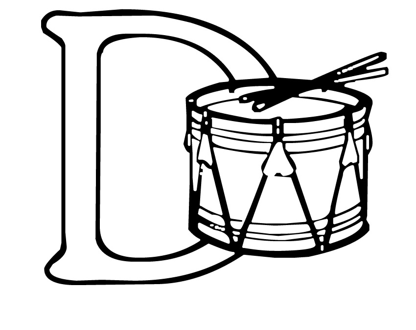 Drum coloring page az coloring pages for Drum coloring pages