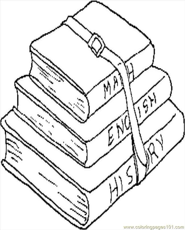 Coloring Pages School Books Education Gt School Free