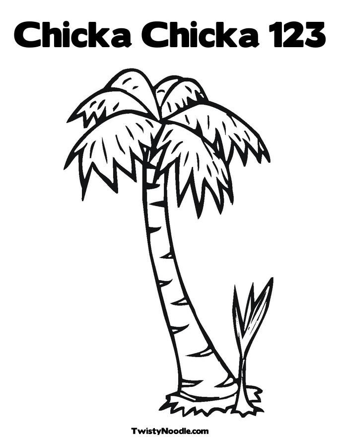 palm trees cartoon coloring home