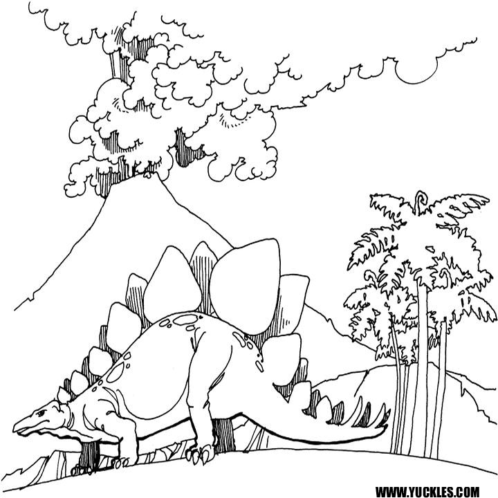 Stegosaurus Coloring Page by YUCKLES!