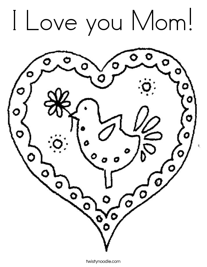 I Love My Mommy Coloring Pages