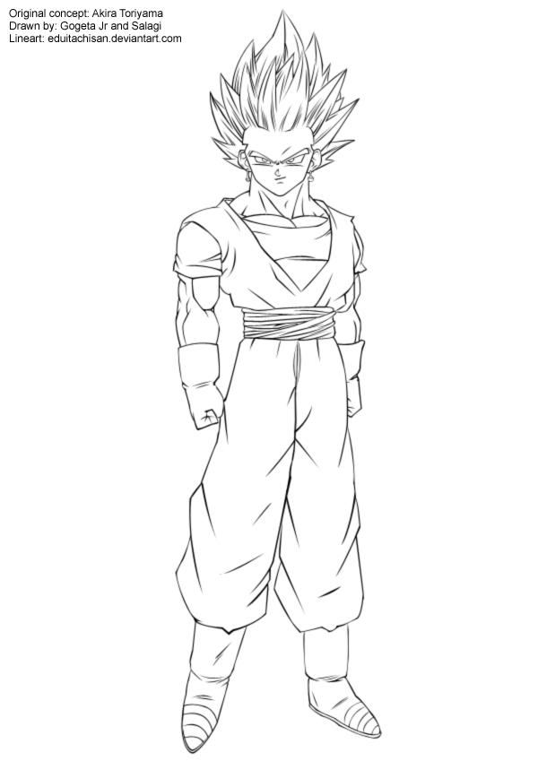 Line Art Là Gì : Goku ssj coloring pages az
