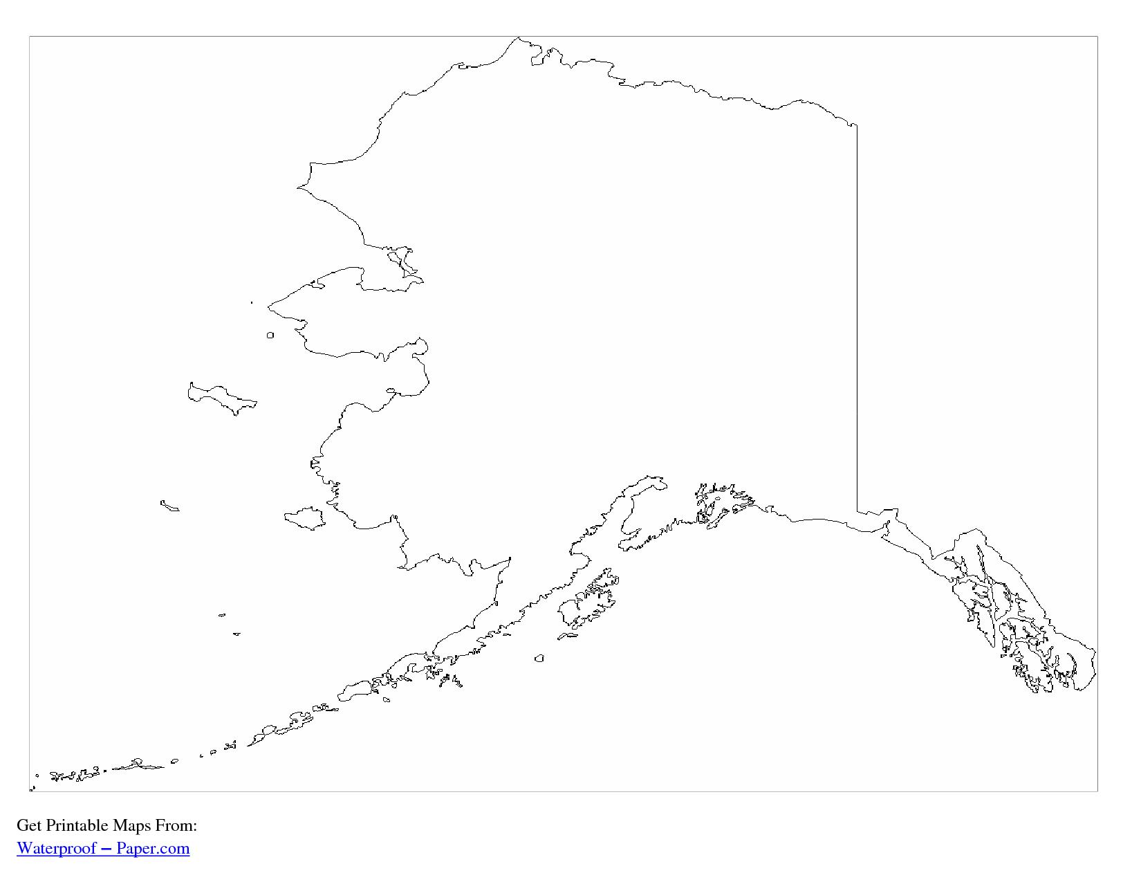 Alaska Outline Map | Printable World Maps - Coloring Home