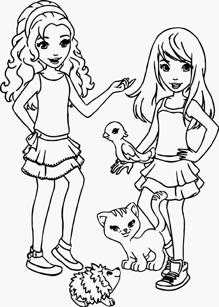Free Coloring Pages Friends - Coloring Home