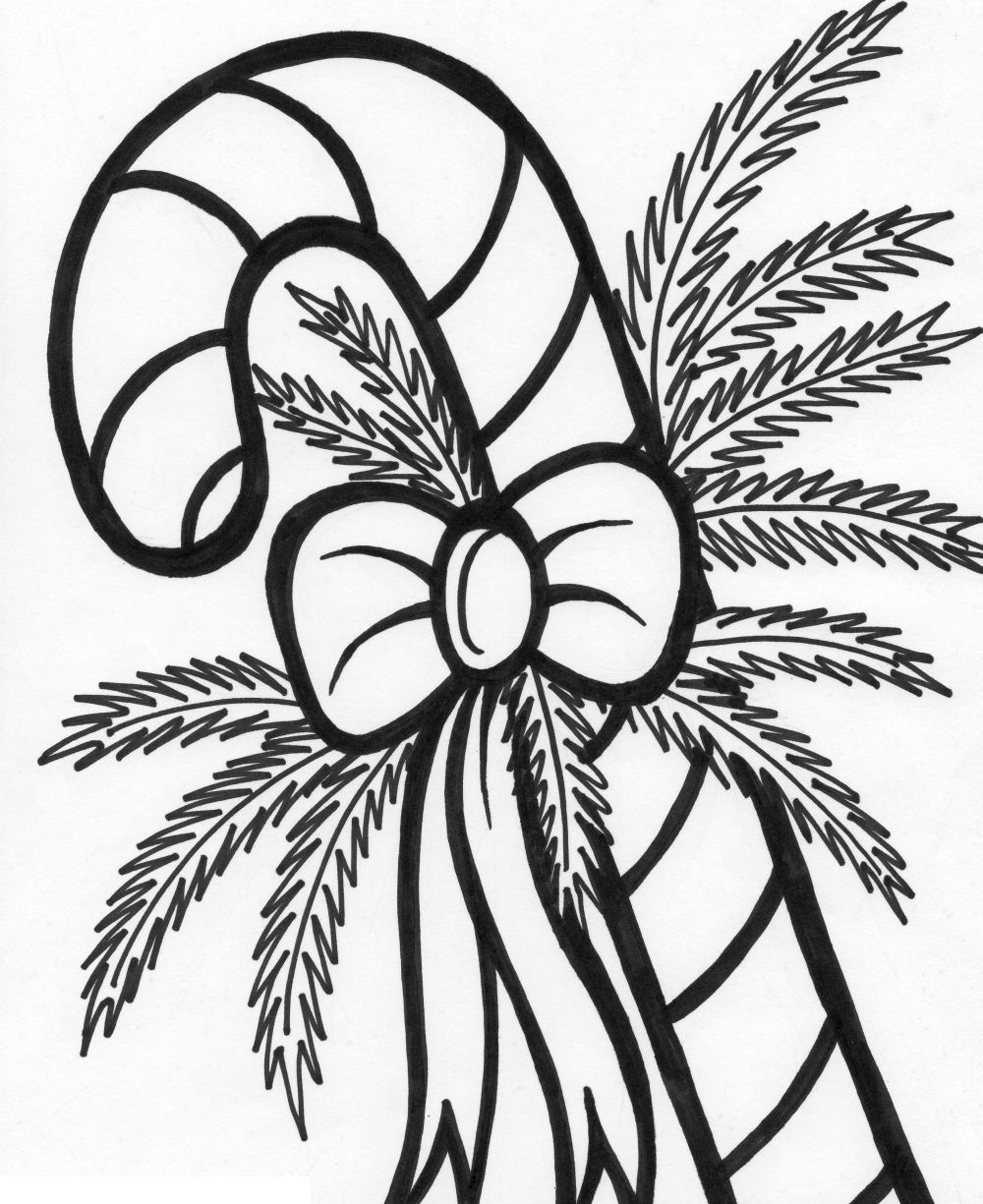 Printable Candy Cane Coloring Pages