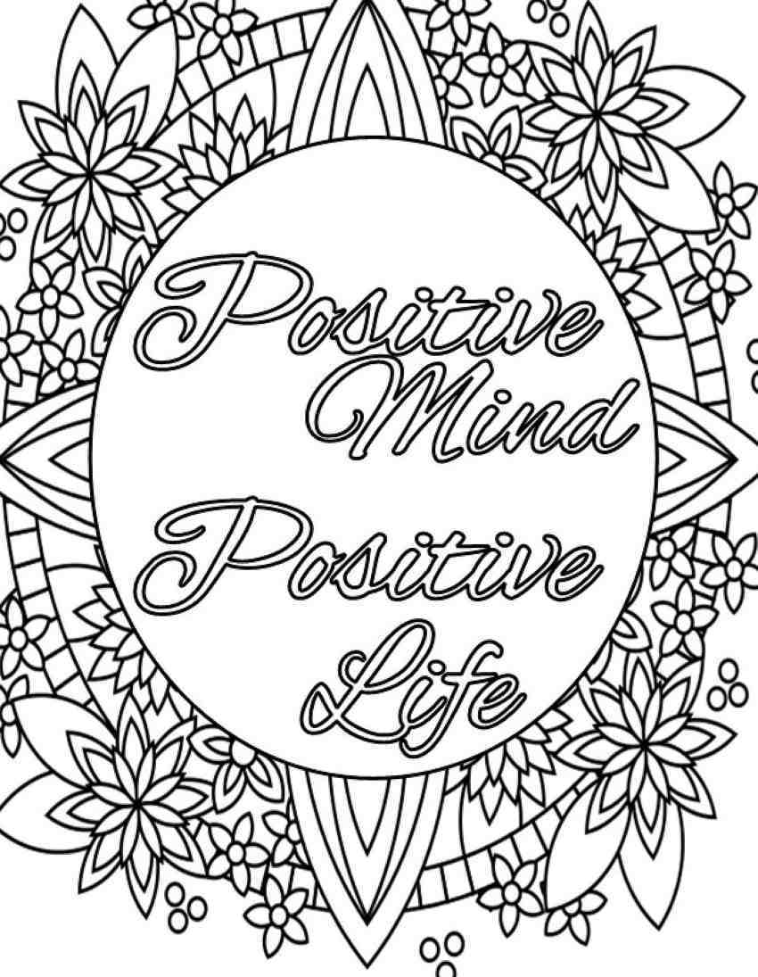 Positive Quote Coloring Pages Quotes Quotesgram Printable Free Coloring Home