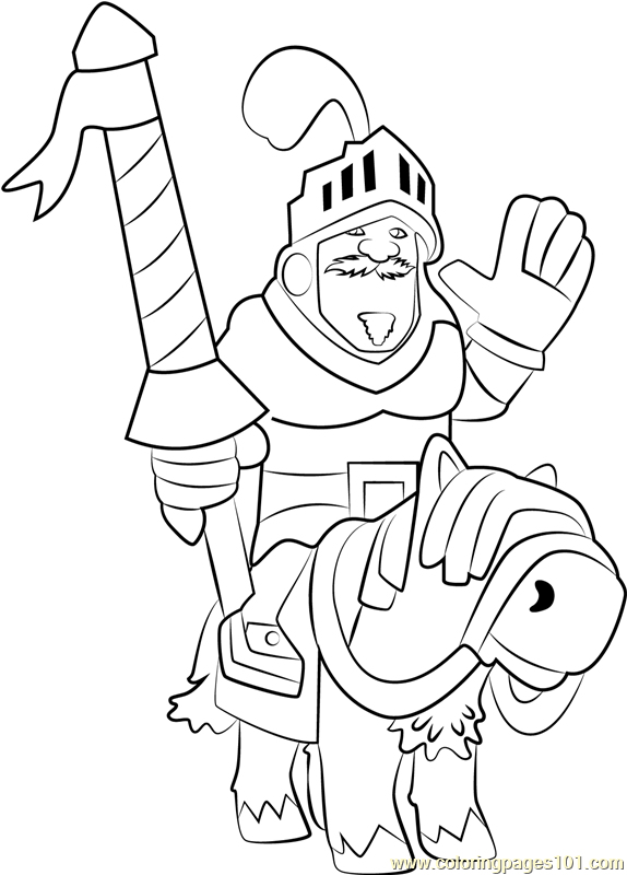 Prince Coloring Page Free Clash Royale Coloring Pages Coloring Home