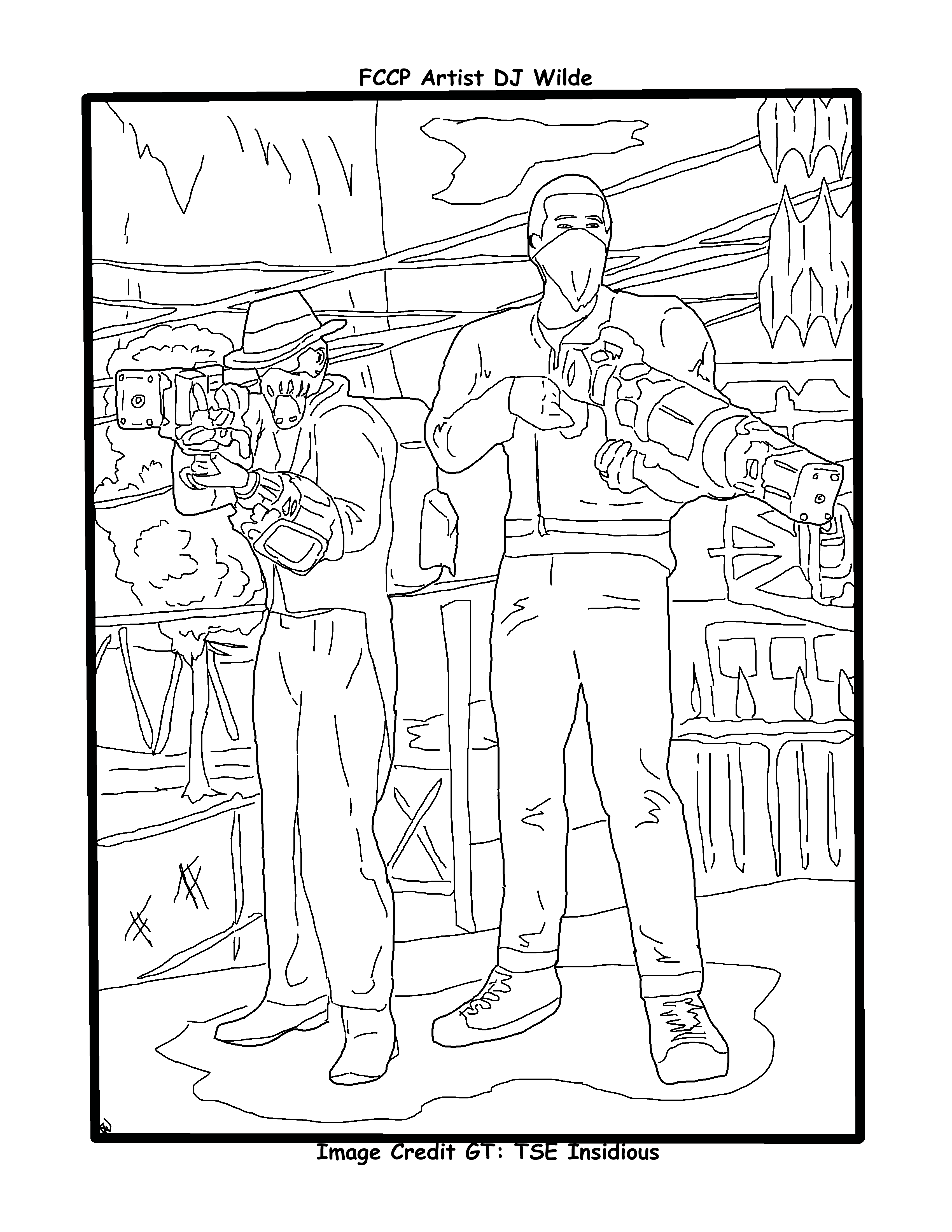 Fallout 76 laser guys coloring page | Coloring pages, Color, Diagram
