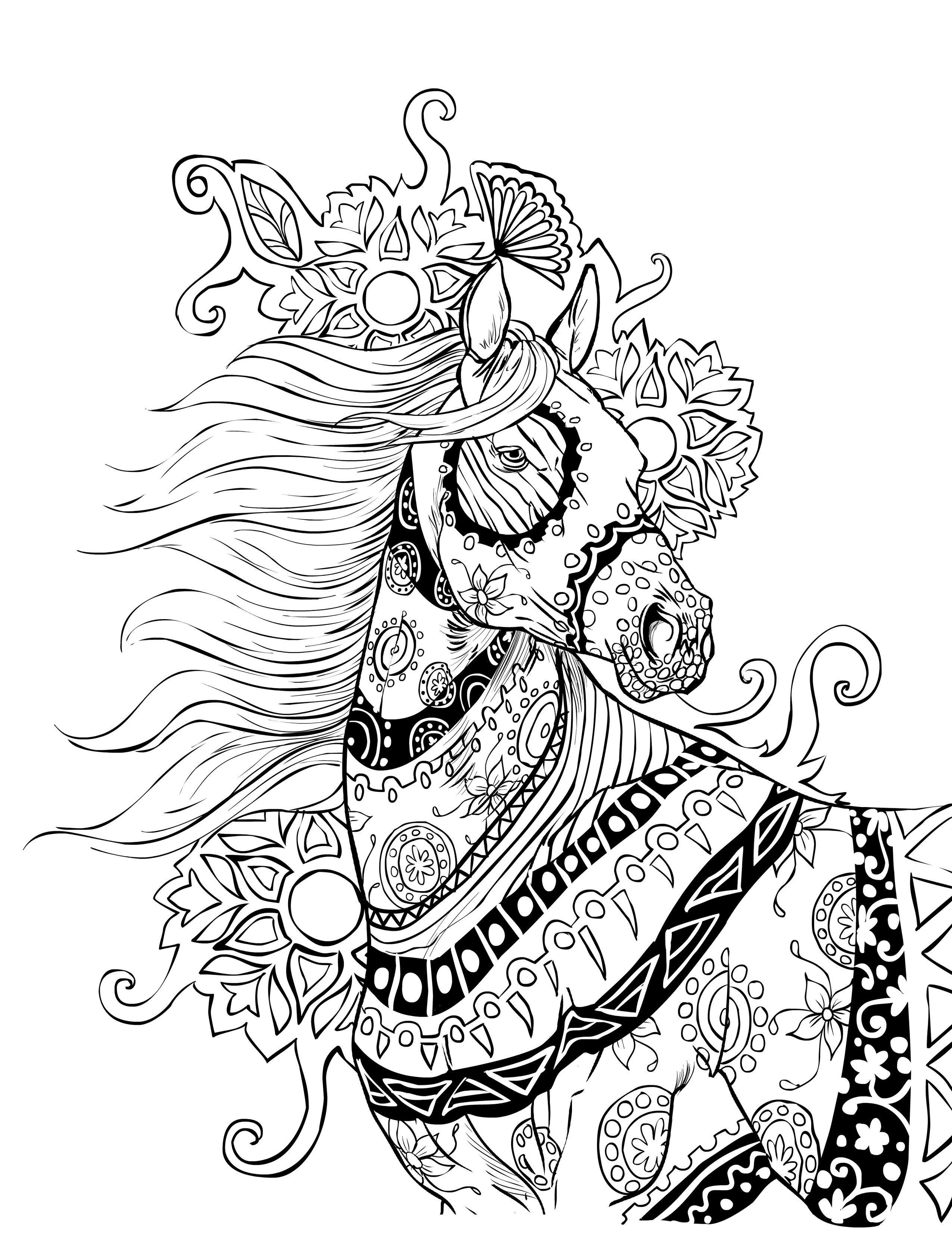 intricate horses coloring pages intricate coloring pages for adults coloring home 4761