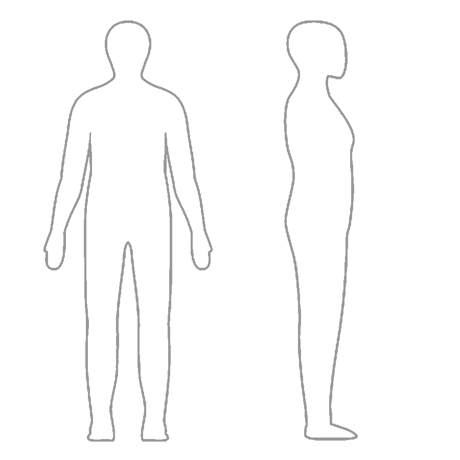 Download or print this amazing coloring page: outline of a human ... | 900x900