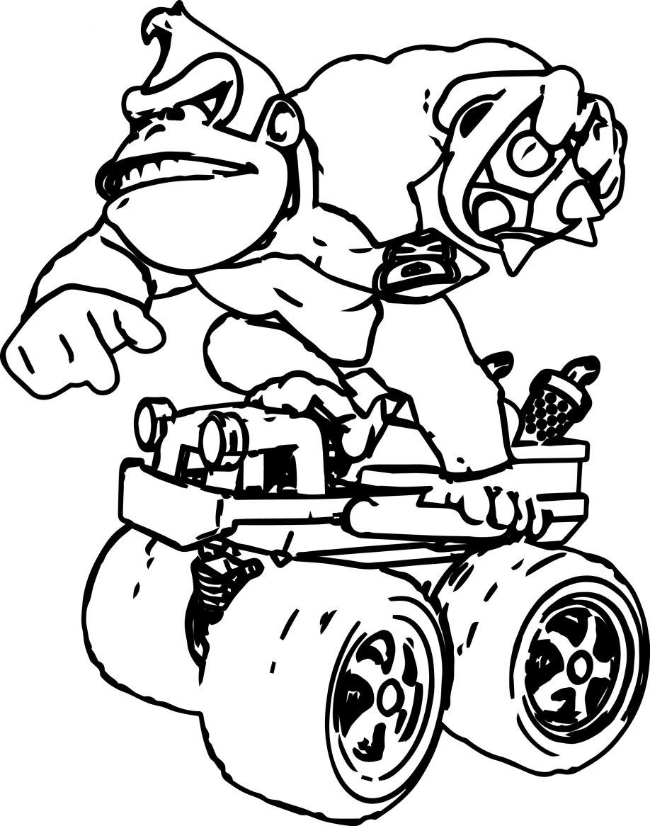 Donkey Kong Country Returns Coloring Pages Donkey Kong Mario