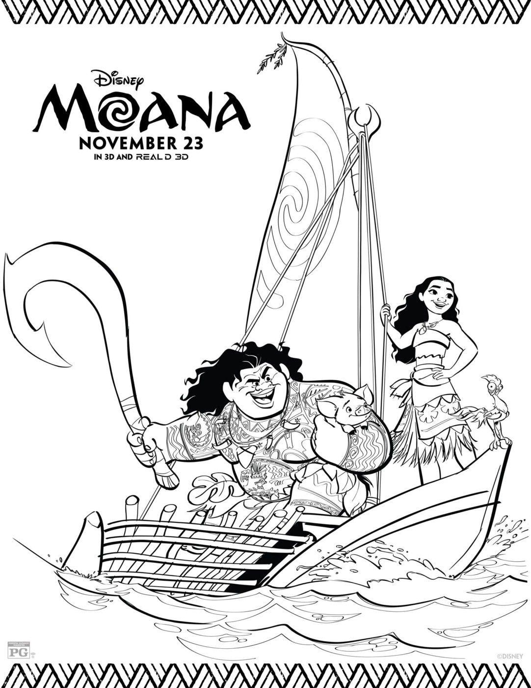 Free Coloring Pages, Moana Coloring Pages, Moana Printables ...