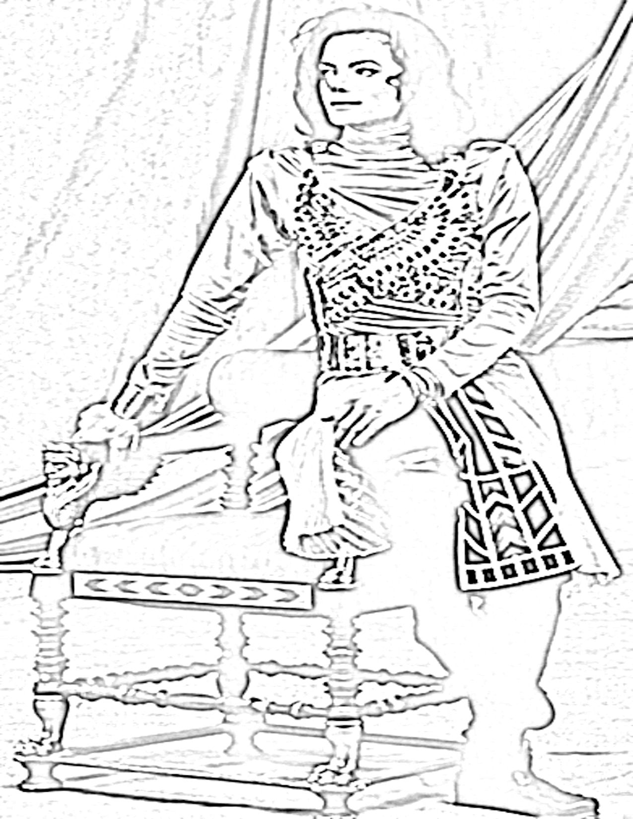 Michael Jackson Coloring Pages | Draw Coloring Pages | Michael ... | 1650x1275