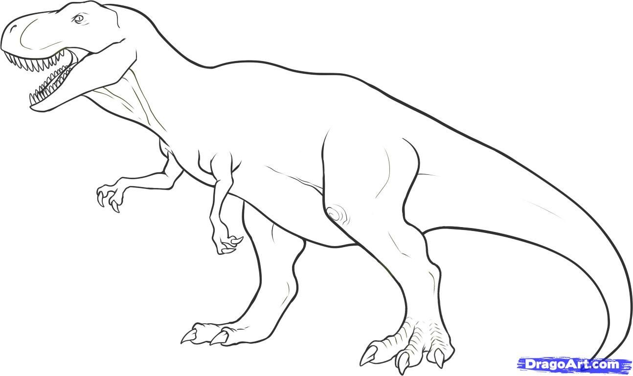 Dinosaur coloring pages trex - Dinosaurs Coloring Pages T Rex High Quality Coloring Pages