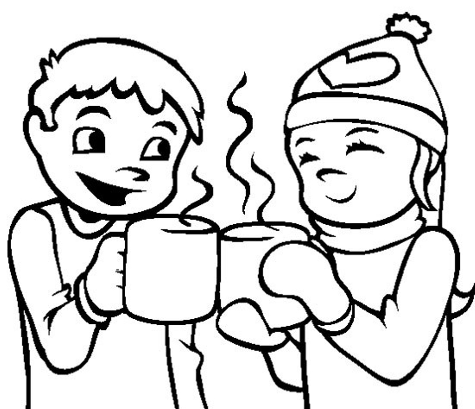 Hot Chocolate Coloring Page - Coloring Home