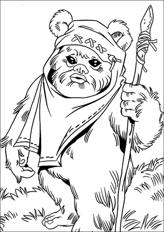 star wars ewok coloring pages - photo#2