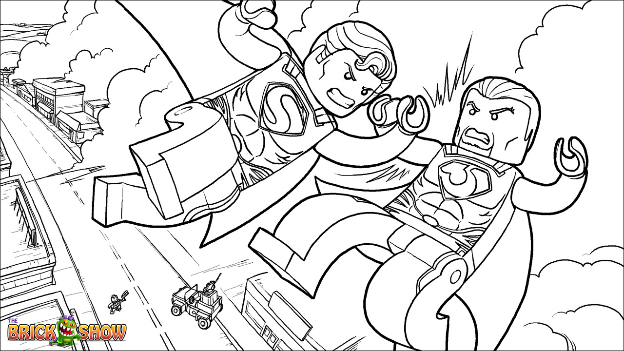 Superman s coloring pages - 9 Pics Of Lego Man Of Steel Coloring Pages Lego Superman