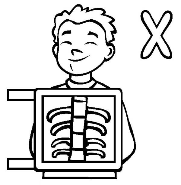 x is for x ray coloring pages - photo #1