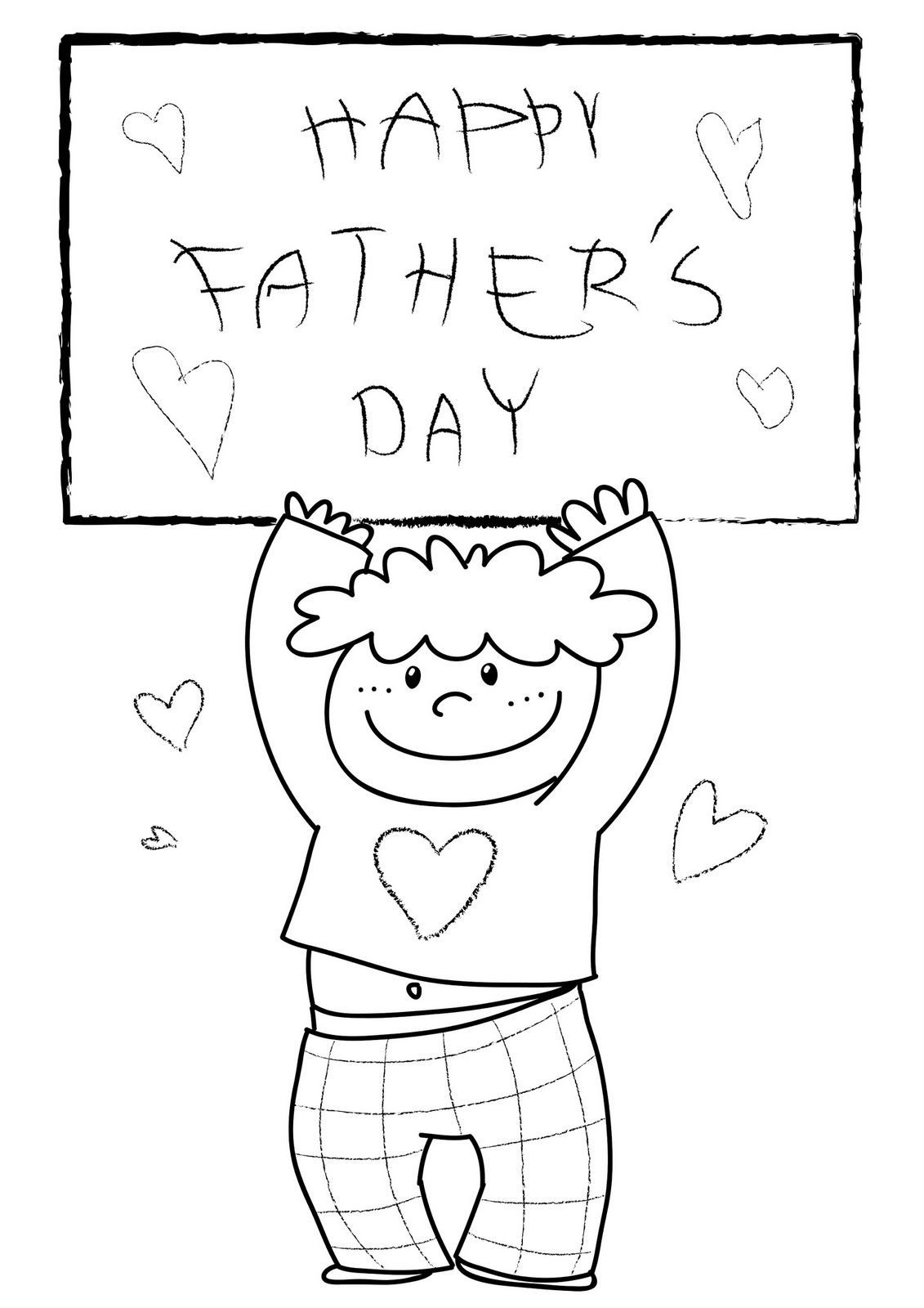 Happy mothers day card coloring pages - Happy Fathers Day Coloring Pages Free Large Images