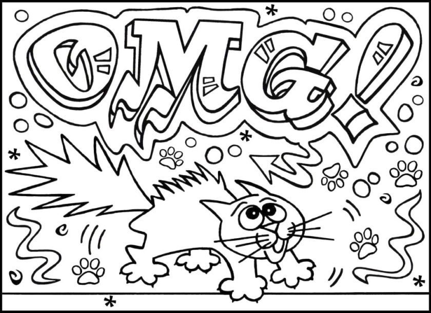graffiti coloring pages for adults - coloring home - Fun Coloring Pages Older Kids