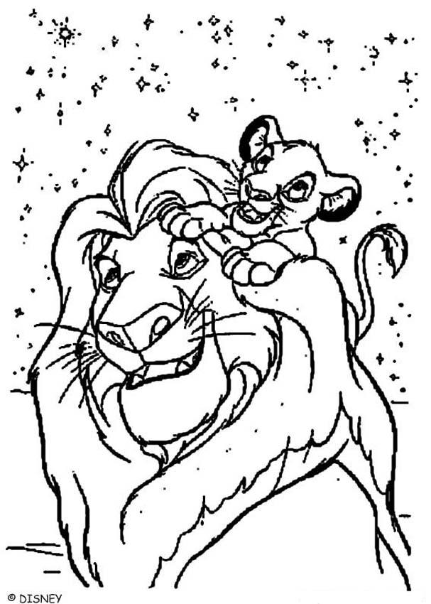 The Lion King Coloring Pages Simba And Mufasa Coloring Home