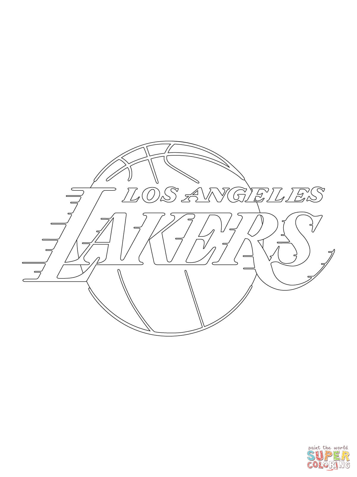 los angeles lakers logo coloring page