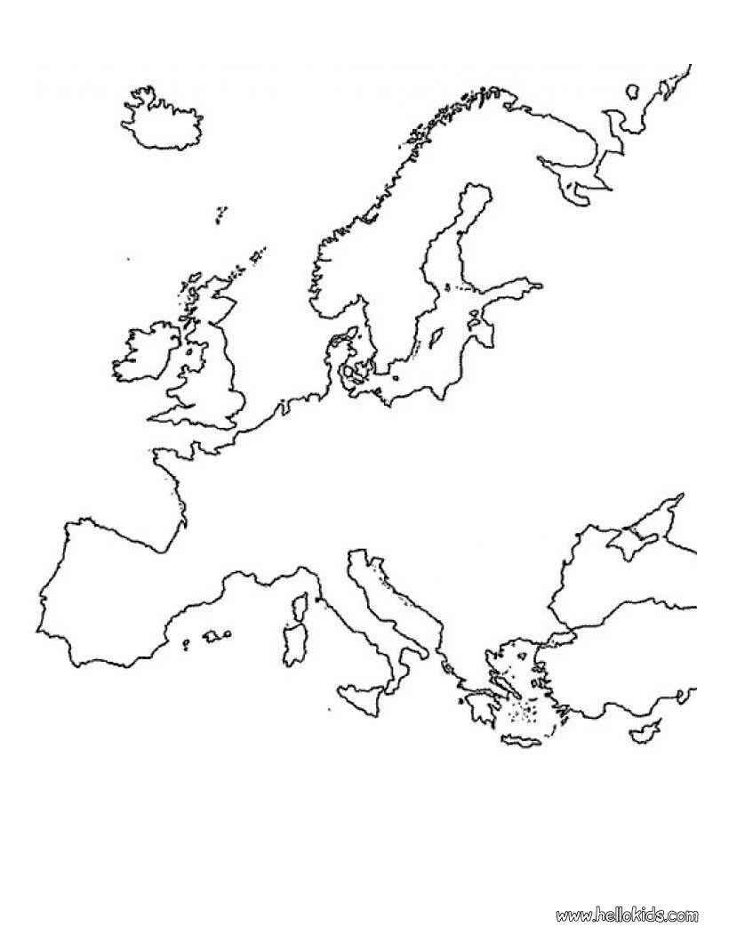 The Continent Of Africa Coloring Page Coloring Home