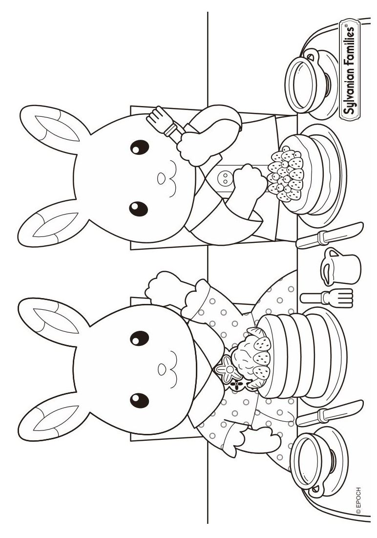 calico critters coloring pages printable - photo#5