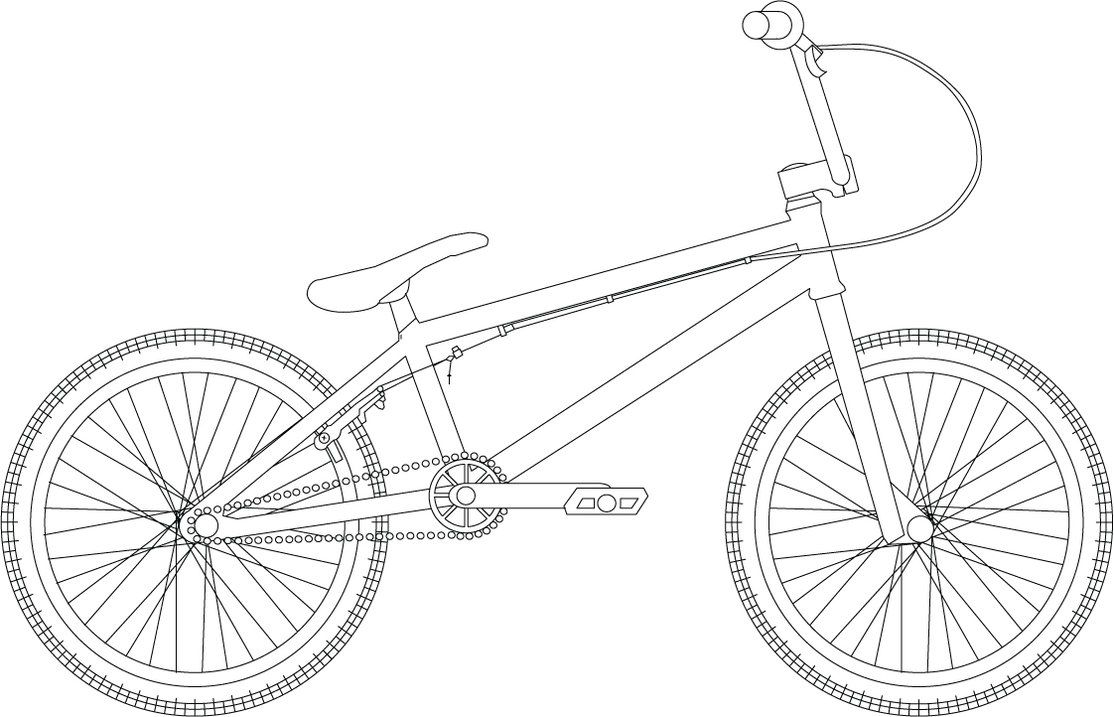 bmx printable coloring pages - bicycle coloring page coloring home
