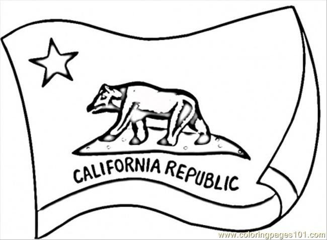 Coloring Pages California Flag