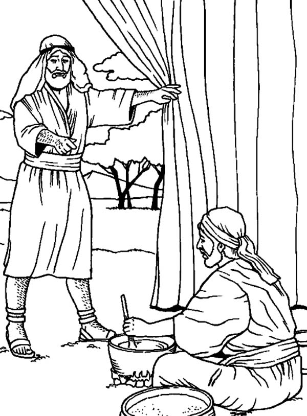 coloring pages jacob and esau - photo#5