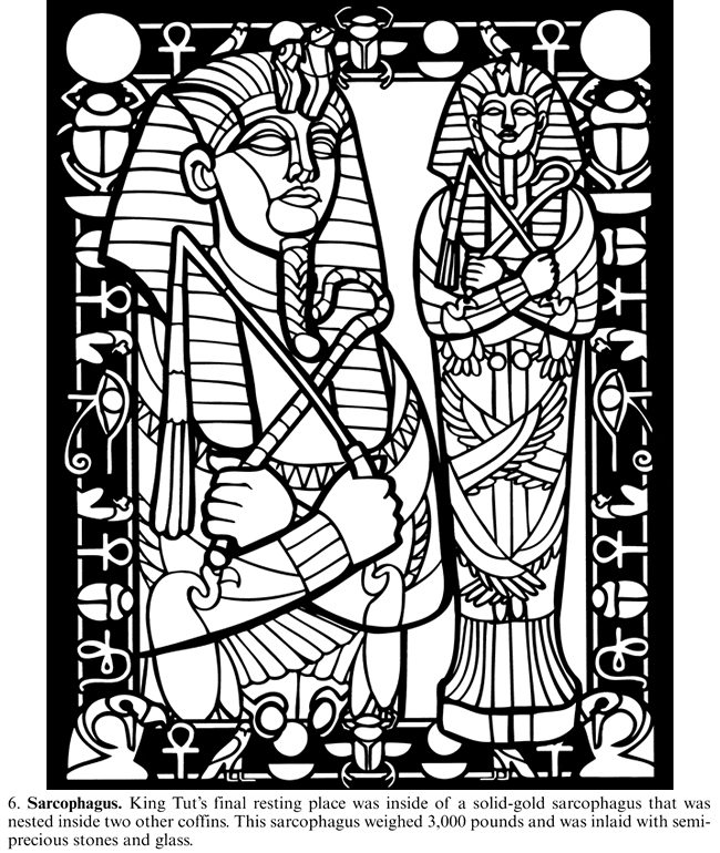 free coloring pages king tut - photo#26