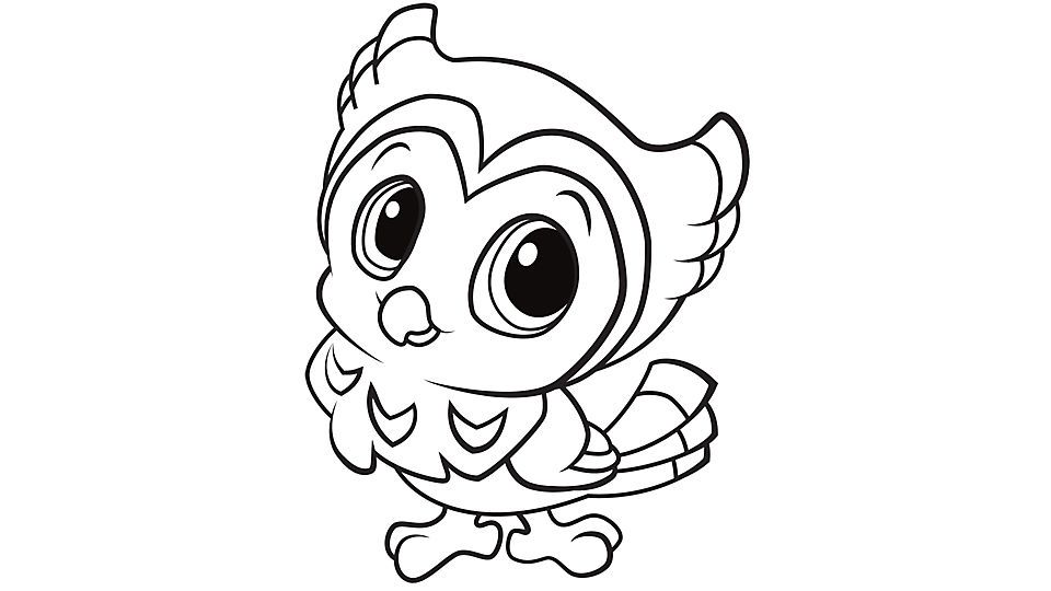 Girl Owl Coloring Pages - Coloring Home