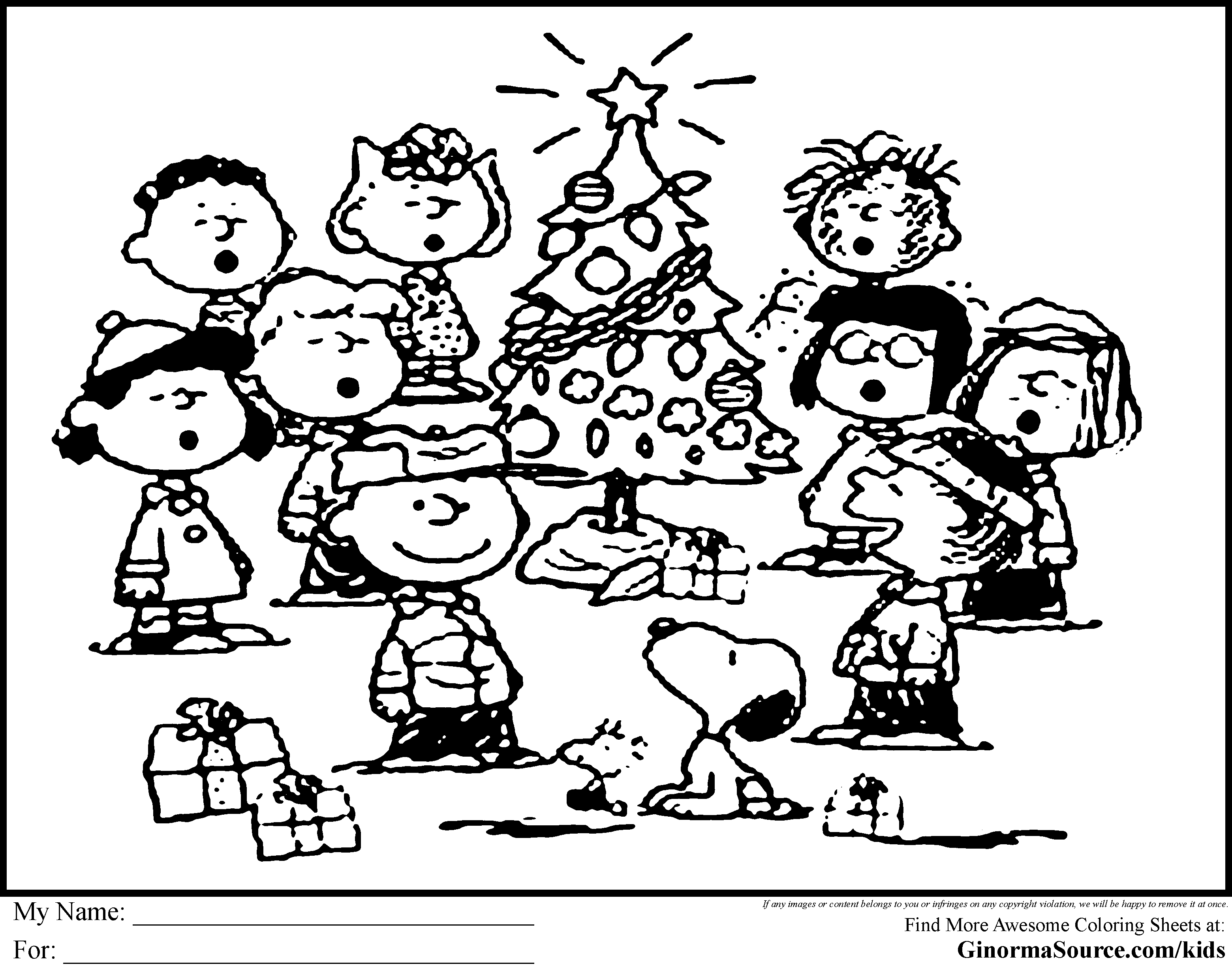 Snoopy christmas coloring pages free coloring home for Free charlie brown coloring pages
