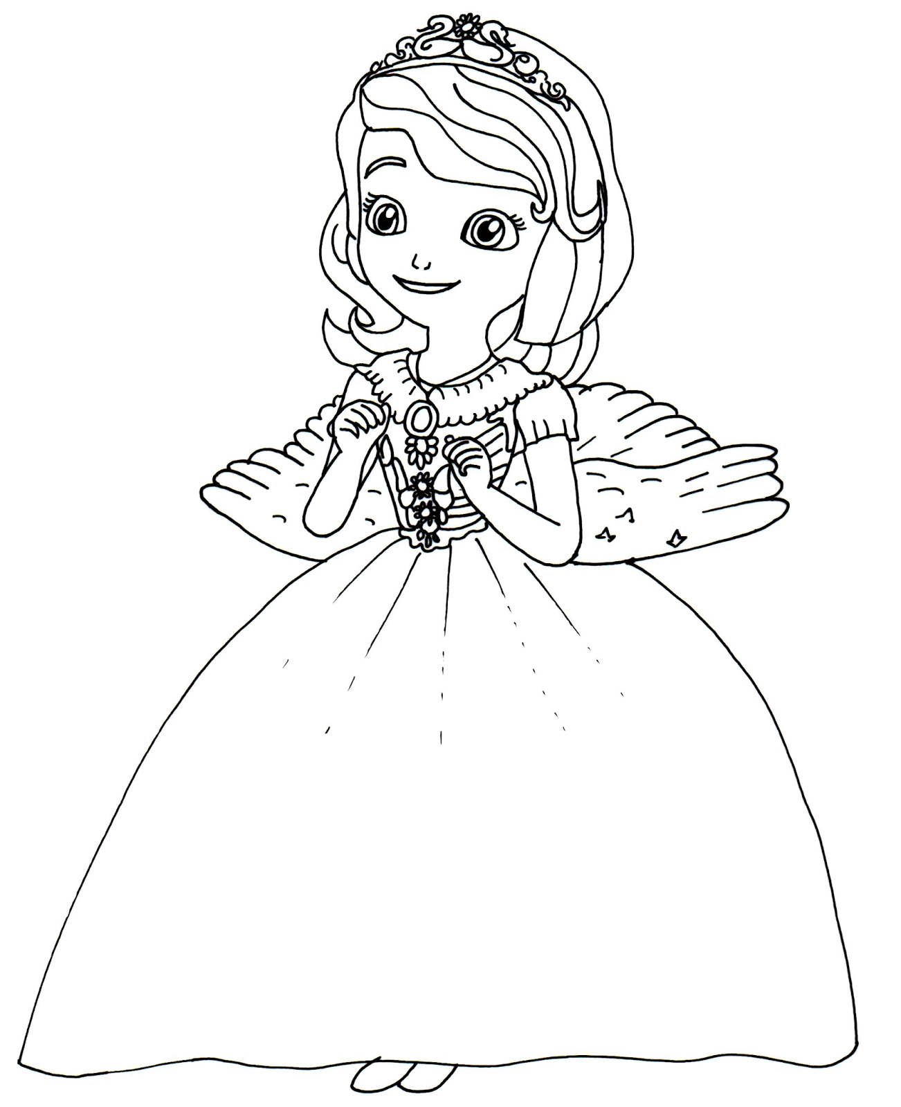 - Princess Sofia Halloween Costumes Print Coloring Pages Free